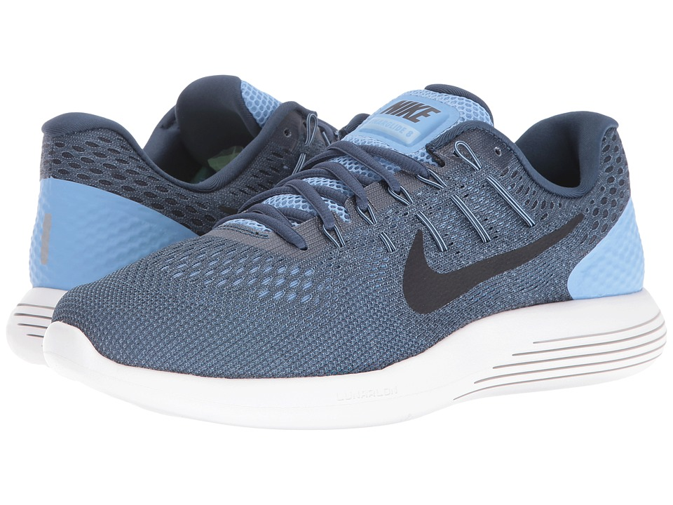 Nike - Lunarglide 8 (Light Blue/Squadron Blue/Ghost Green/Black) Men's Running Shoes