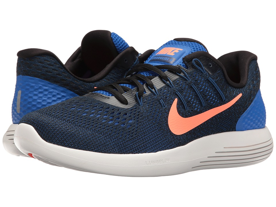 Nike - Lunarglide 8 (Hyper Cobalt/Black/Loyal Blue/Bright Mango) Men's Running Shoes