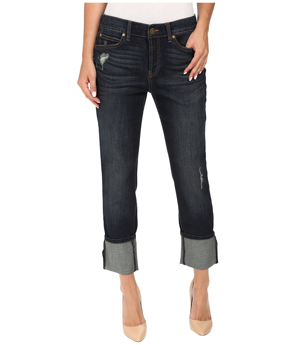 Level 99 - Morgan Cuffed Straight in Port (Port) Women's Jeans
