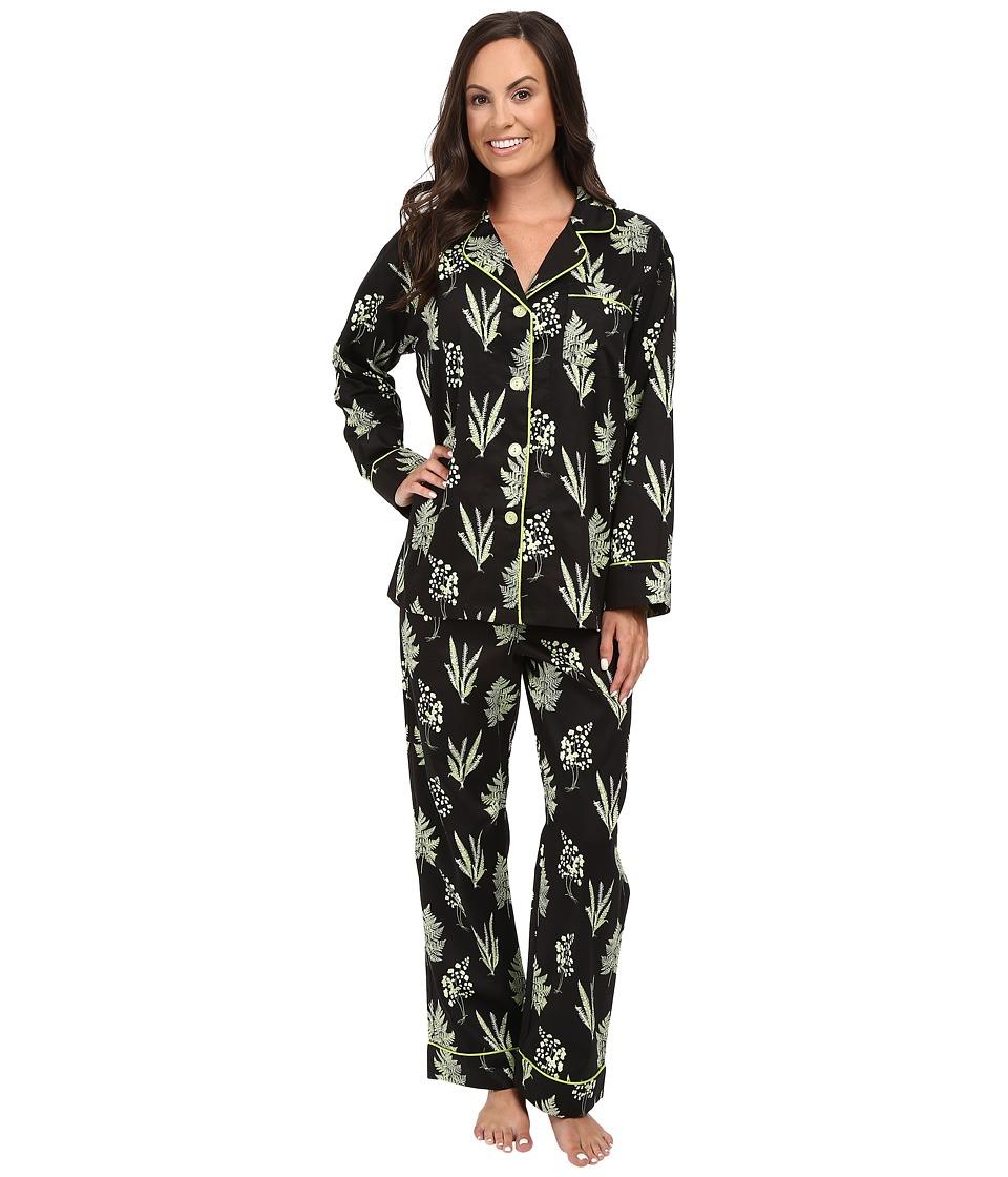 BedHead - Long Sleeve Classic Bottom Pajama Set (Wild Fern) Women's Pajama Sets