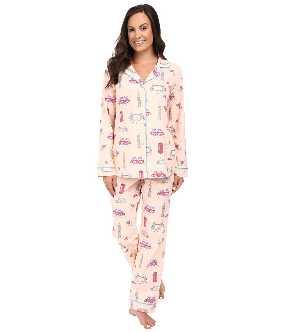 BedHead - Long Sleeve Classic Bottom Pajama Set (London Calling) Women's Pajama Sets