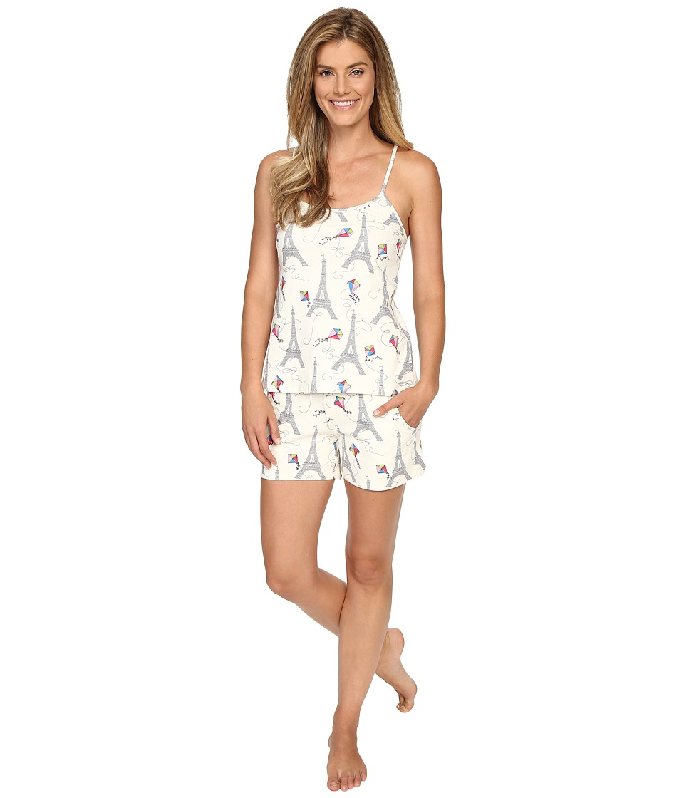 BedHead - Stretch Tank Short Pajama Set (Eiffel Kites) Women's Pajama Sets
