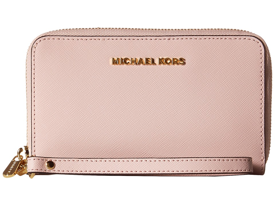MICHAEL Michael Kors - Jet Set Travel Large Flat MF Phone Case (Blossom) Cell Phone Case