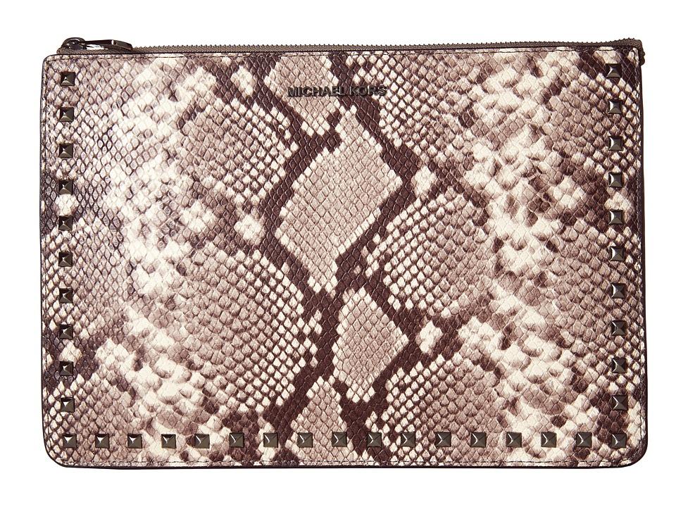 MICHAEL Michael Kors - Ava Stud Large Conv Pouch (Natural) Wallet