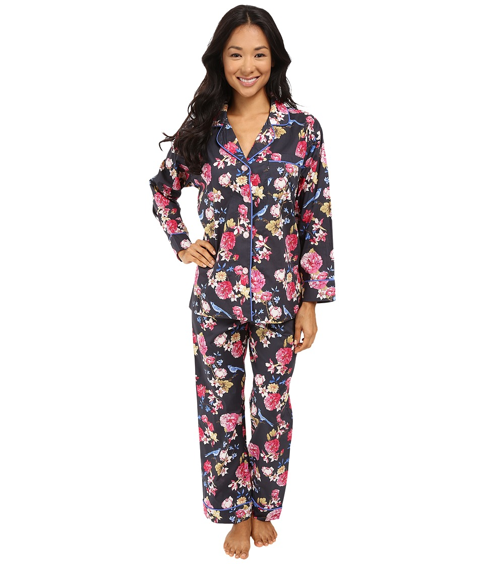 BedHead - Long Sleeve Classic Bottom Pajama Set (Mr. Blue Jay) Women's Pajama Sets
