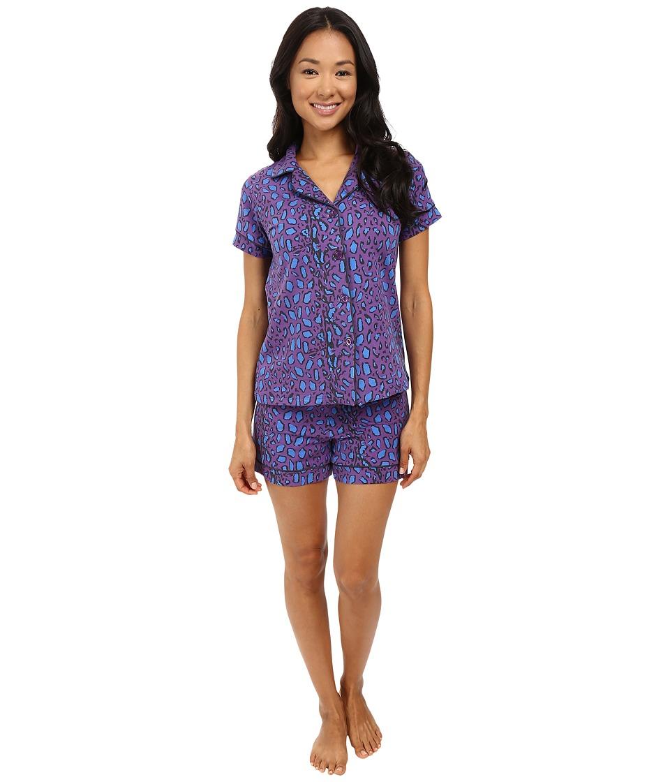BedHead - Short Sleeve Shorty Bottom Pajama Set (Mighty Jungle) Women's Pajama Sets