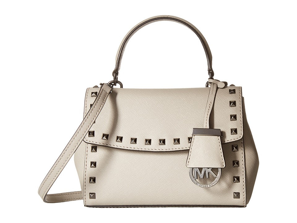 MICHAEL Michael Kors - Ava Stud XS Crossbody (Cement) Cross Body Handbags