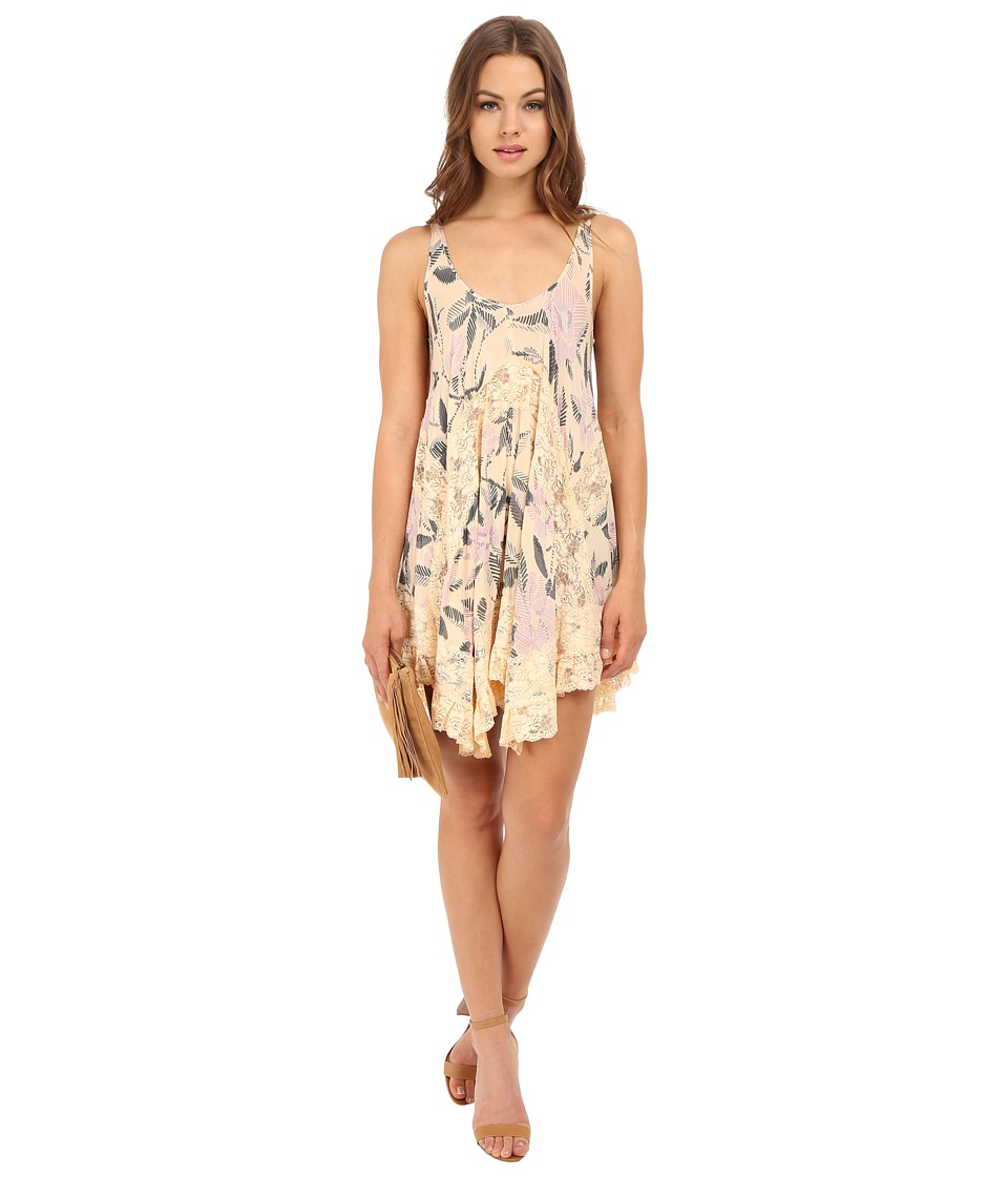 Free People - She Swings Slip Viscose Voile (Neutral Combo) Women's Dress