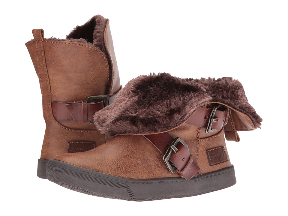 Blowfish Kids - Pembe-K SHR (Little Kid/Big Kid) (Whiskey Old Ranger PU/Whiskey Dyecut/Faux Fur) Girl's Shoes