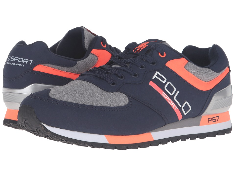 Polo Ralph Lauren - Slaton Polo (Newport Navy/Speedway Grey Tech Suede/Sweatshirt) Men's Shoes