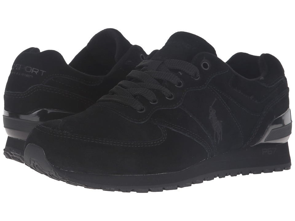 Polo Ralph Lauren - Slaton Pony (Black Sport Suede) Men's Lace up casual Shoes