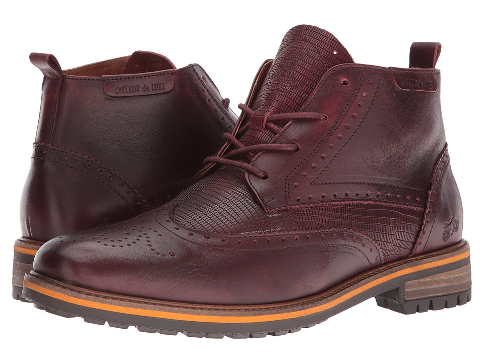 Cycleur de Luxe - New Annecy (Burgundy) Men's Shoes
