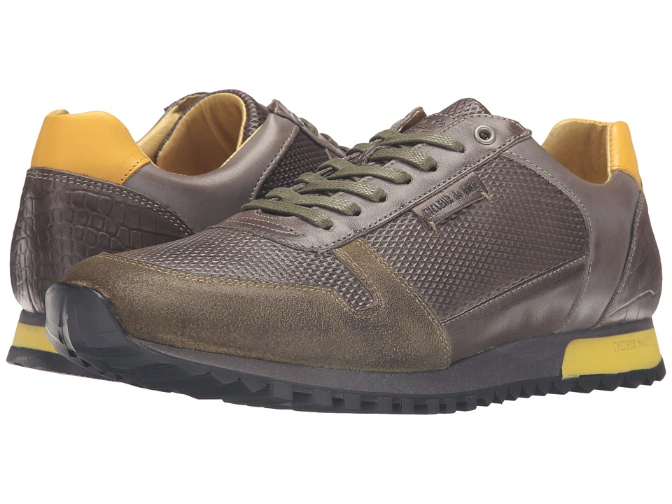 Cycleur de Luxe - Dallas (Military Green/Dark Grey/Lime) Men's Shoes