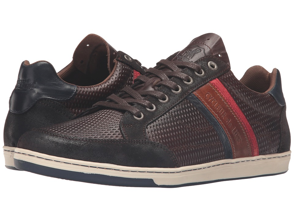 Cycleur de Luxe - Preston (Coffee/Red/Cognac) Men's Shoes