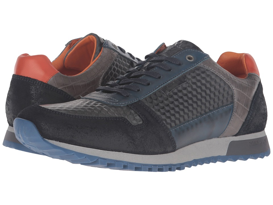 Cycleur de Luxe - Dallas (Navy/Rust/Grey) Men's Shoes