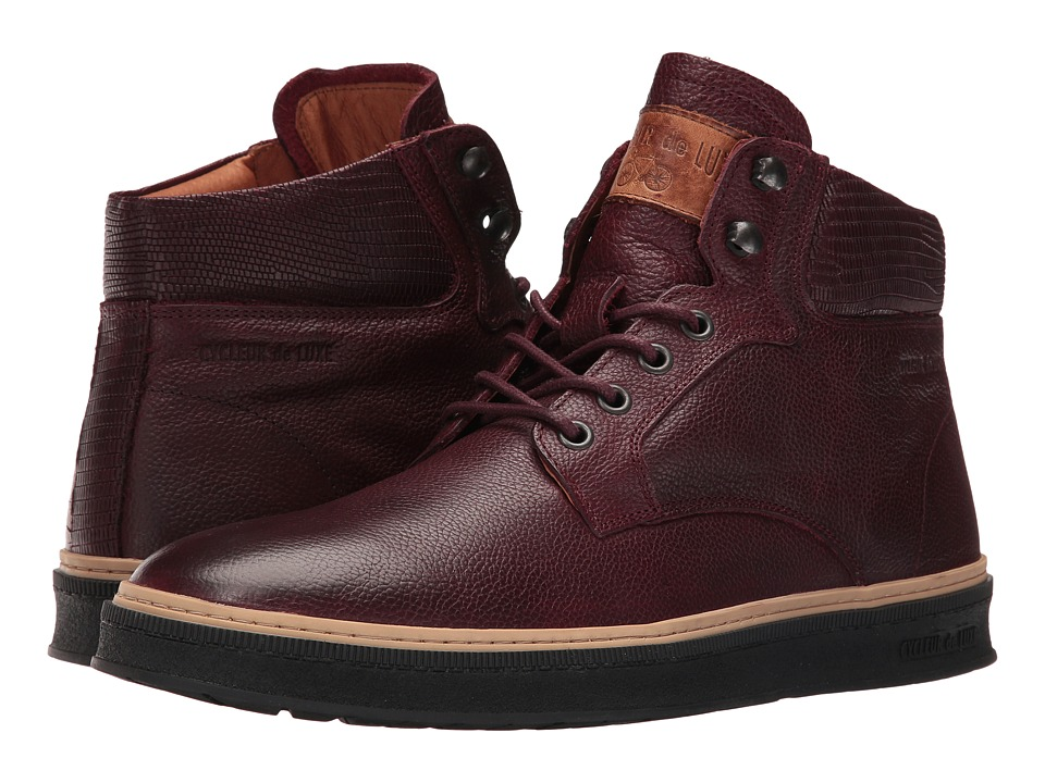 Cycleur de Luxe - Lissabon (Burgundy/Dark Cognac) Men's Shoes