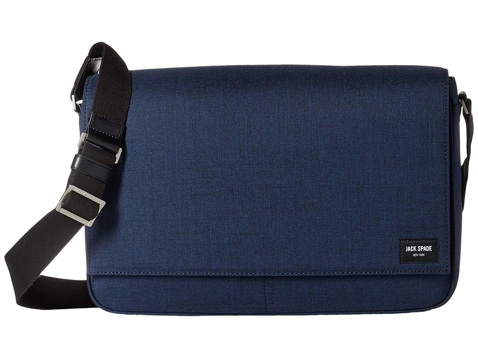 Jack Spade - Tech Oxford Messenger (Navy) Messenger Bags