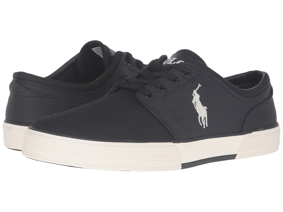 Polo Ralph Lauren - Faxon Low (Black/Black Matte Cordura/Mini Matte Ripstop) Men's Lace up casual Shoes