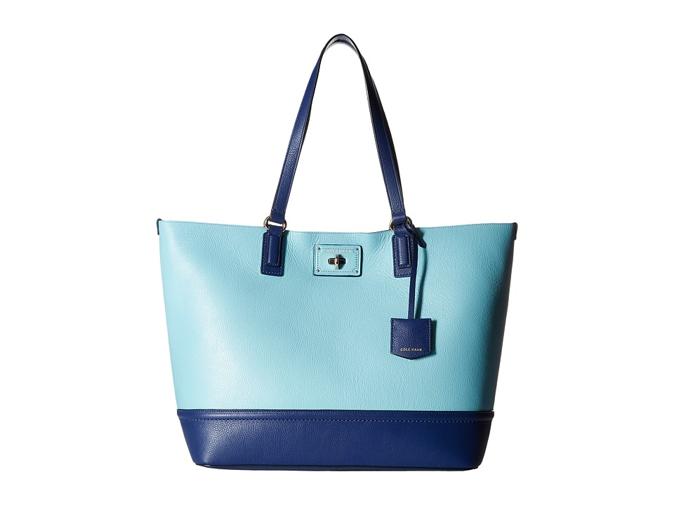 Cole Haan - Jozie Tote (Aqua/Summer Night Blue) Tote Handbags