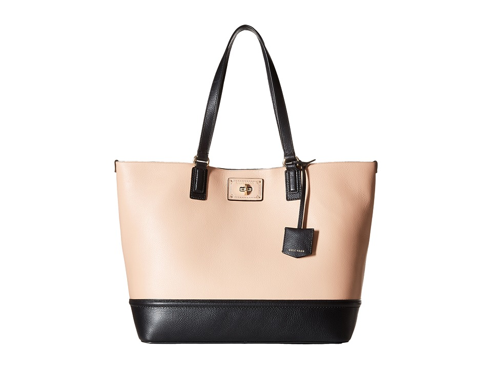 Cole Haan - Jozie Tote (Toasted Almond/Black) Tote Handbags