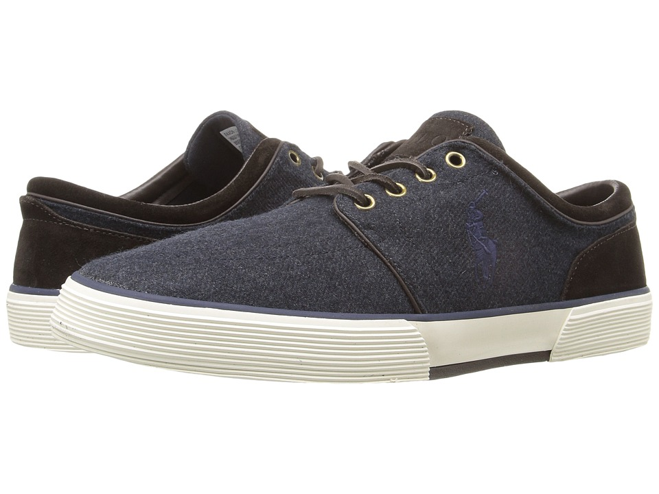 Polo Ralph Lauren - Faxon Low (Navy/Dark Brown Solid Flannel/Sport Suede) Men's Lace up casual Shoes