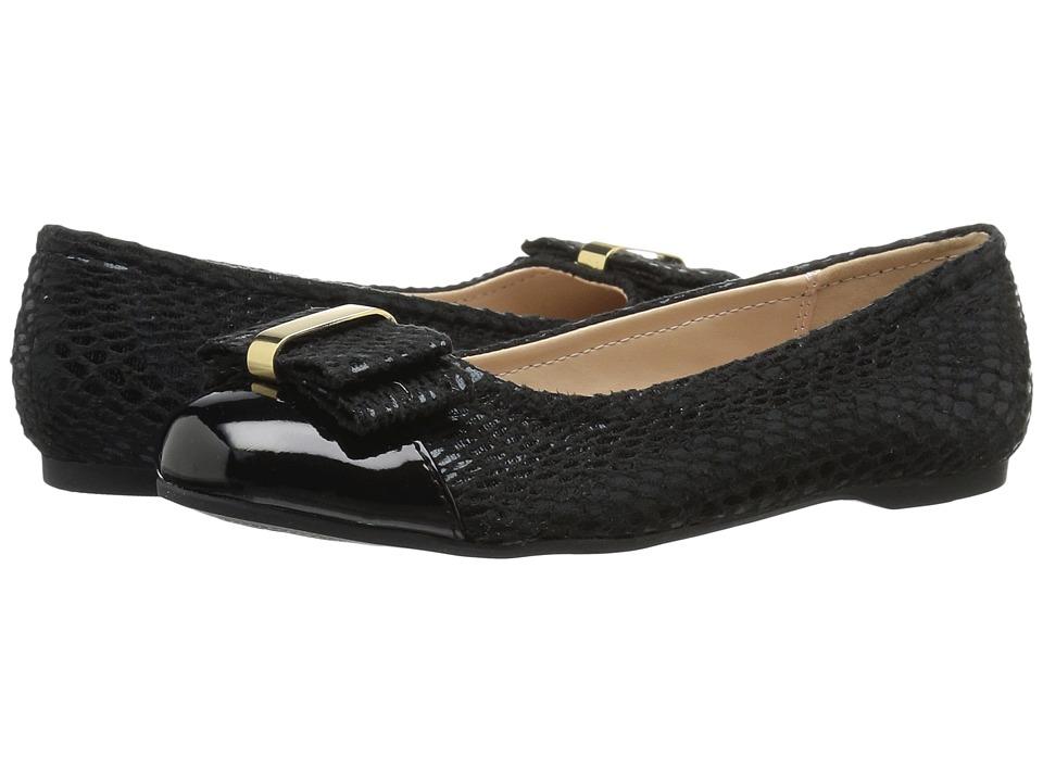 Jessica Simpson Kids - Portia (Little Kid/Big Kid) (Black Microsuede/Patent) Girl's Shoes