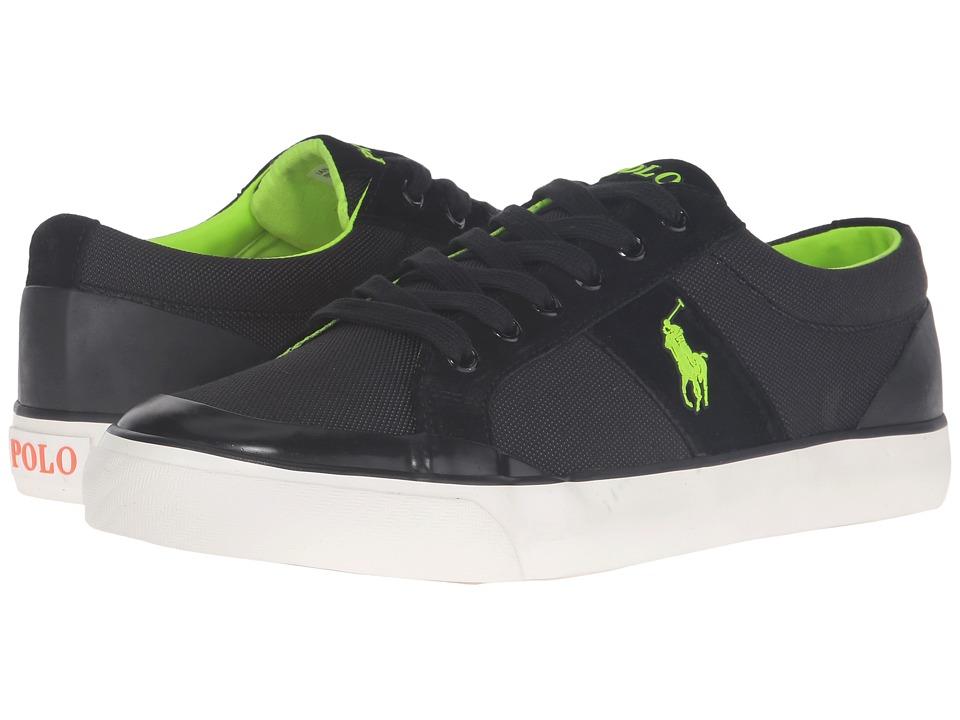 Polo Ralph Lauren - Ian (Black Pique Nylon) Men's Shoes