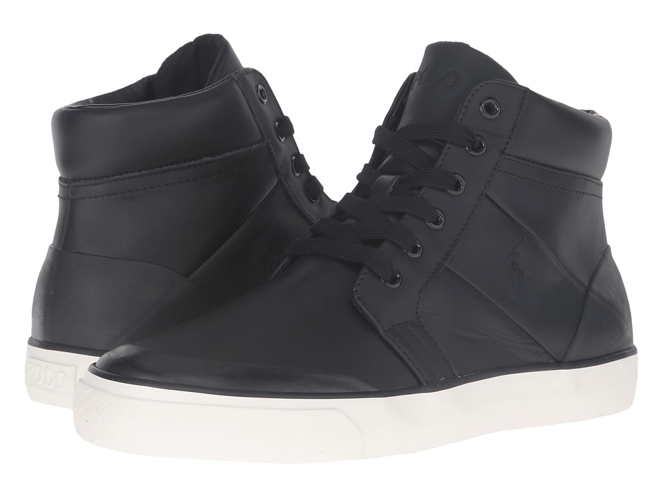 Polo Ralph Lauren - Isaak (Black Smooth Sport Leather) Men's Shoes