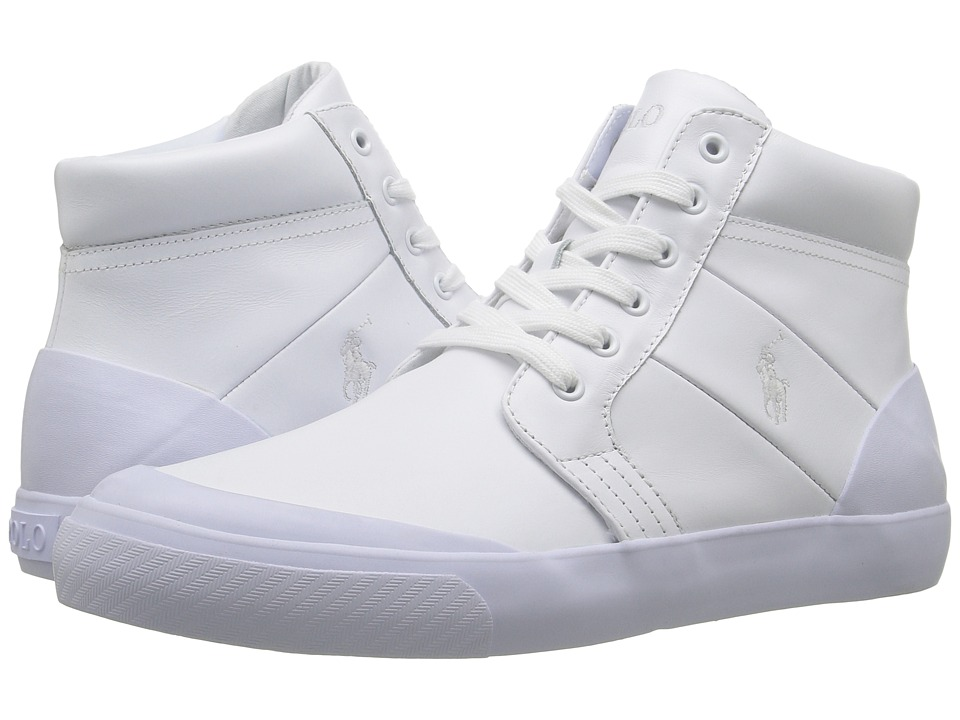 Polo Ralph Lauren - Isaak (White Smooth Sport Leather) Men's Shoes