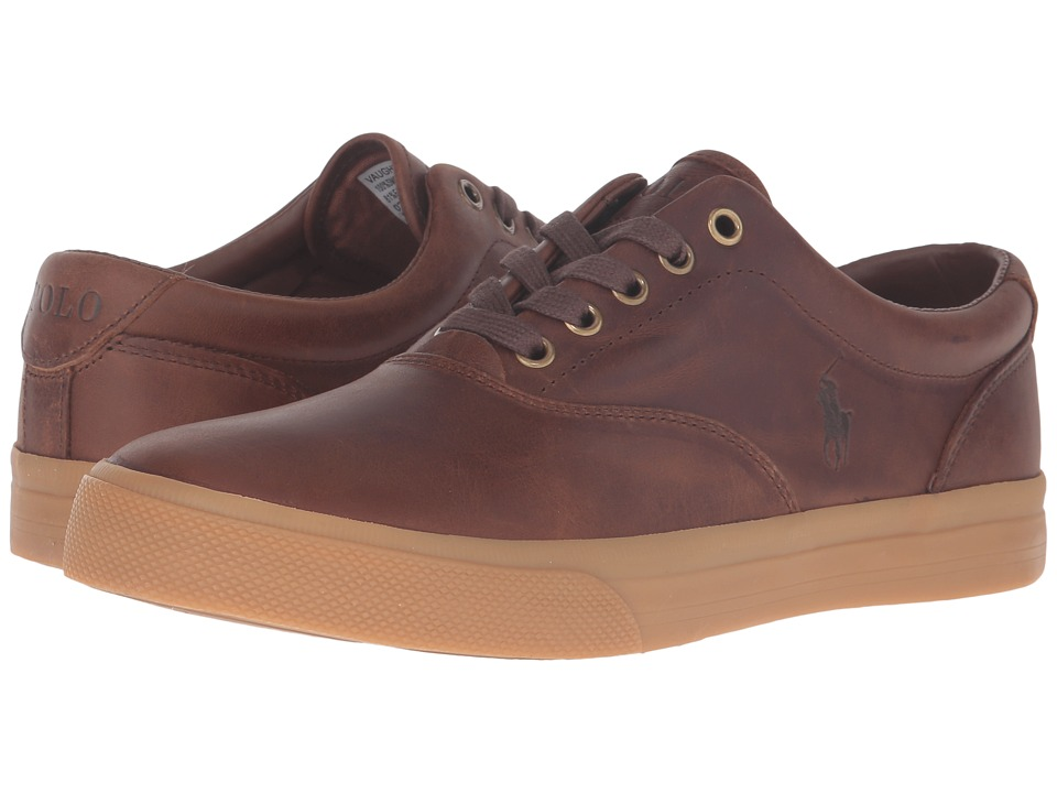 Polo Ralph Lauren - Vaughn (Tan/Gum Smooth Oil Leather) Men's Lace up casual Shoes