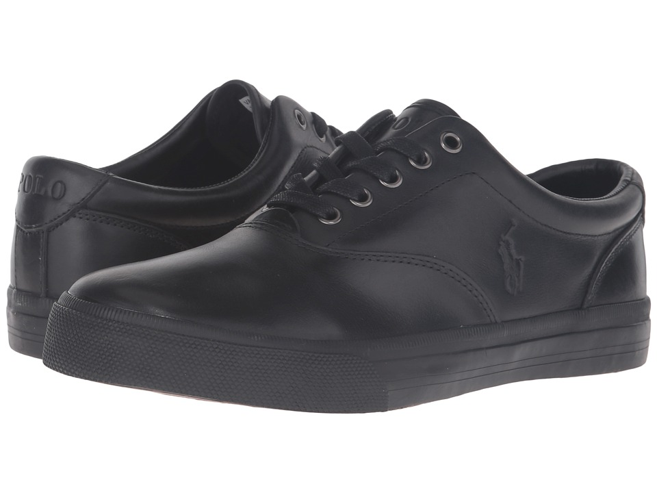 Polo Ralph Lauren - Vaughn (Black/Black Smooth Oil Leather) Men's Lace up casual Shoes