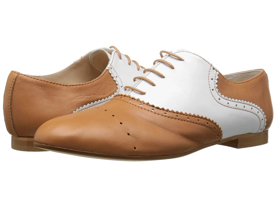Massimo Matteo - Two-Tone Oxford (Cuoio/Blanco) Women's Lace up casual Shoes