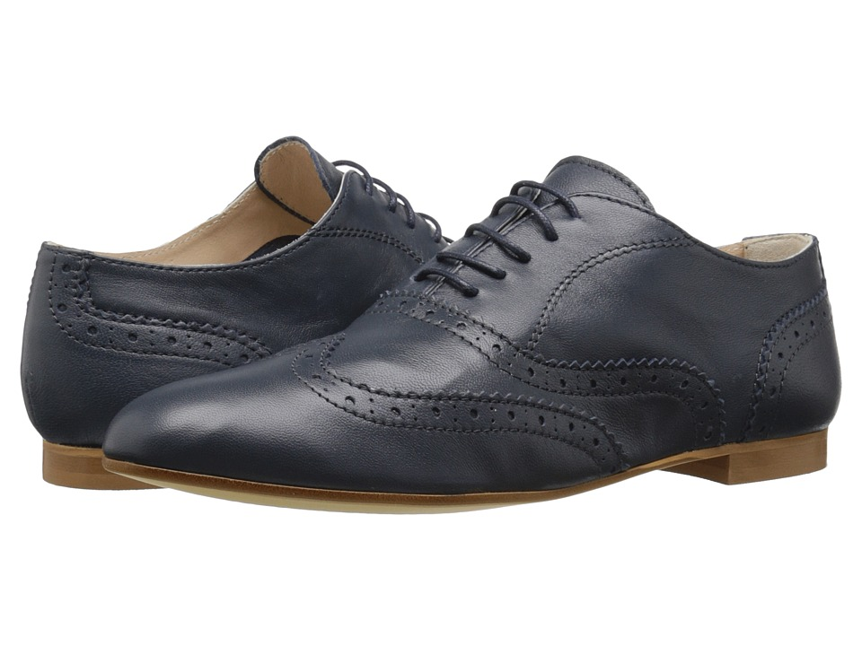 Massimo Matteo - Wing Oxford (Navy) Women's Lace up casual Shoes