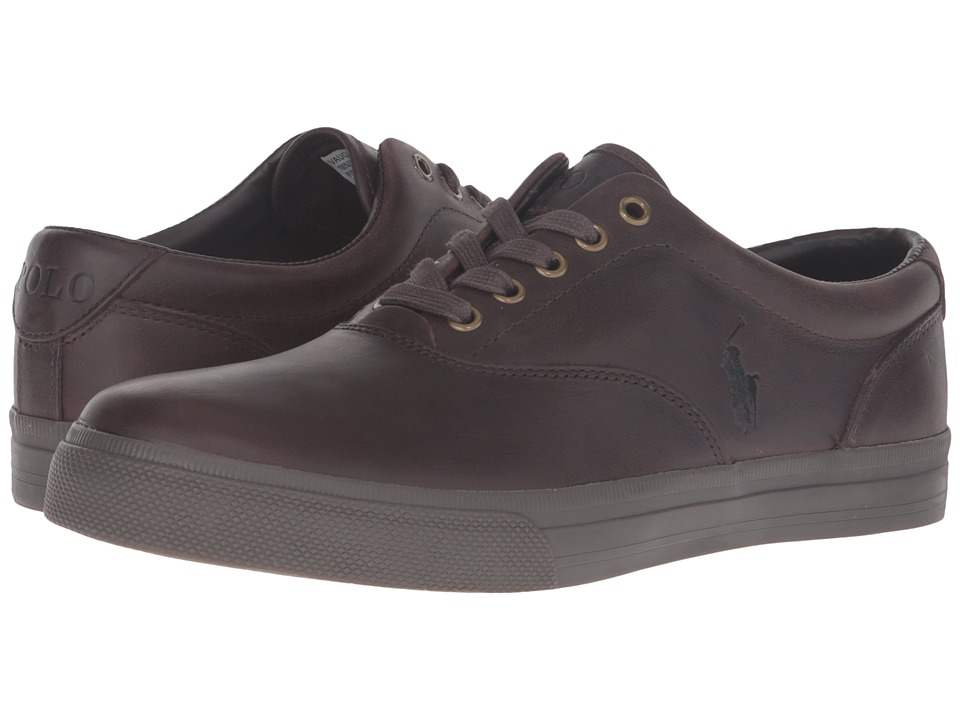 Polo Ralph Lauren - Vaughn (Brown/Nicotine Smooth Oil Leather) Men's Lace up casual Shoes