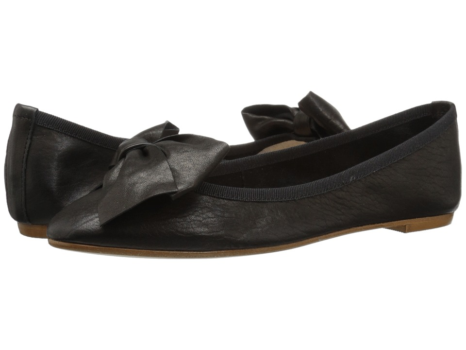Massimo Matteo - Flat with Bow (Black) Women's Flat Shoes