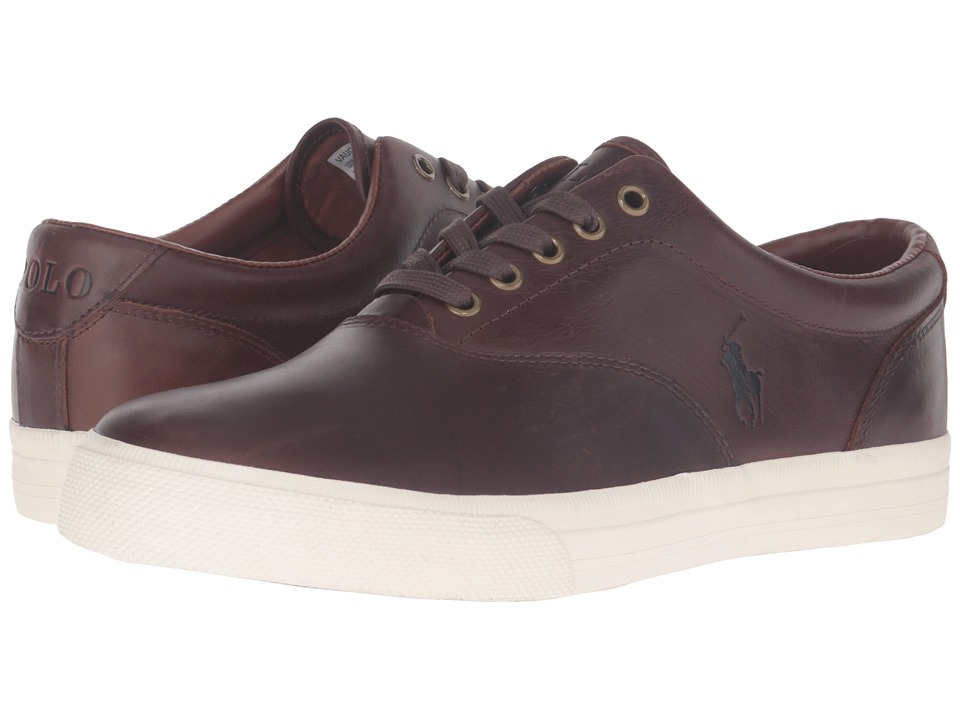 Polo Ralph Lauren - Vaughn (Tan/Cream Smooth Oil) Men's Lace up casual Shoes
