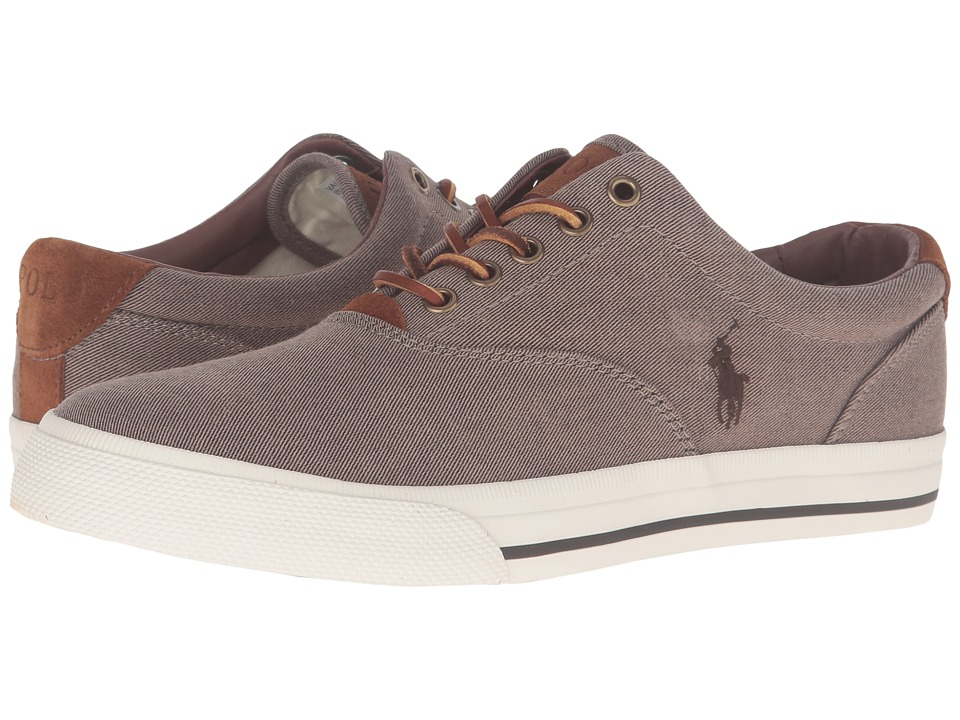 Polo Ralph Lauren - Vaughn (Dark Khaki Two-Tone Twill) Men's Lace up casual Shoes