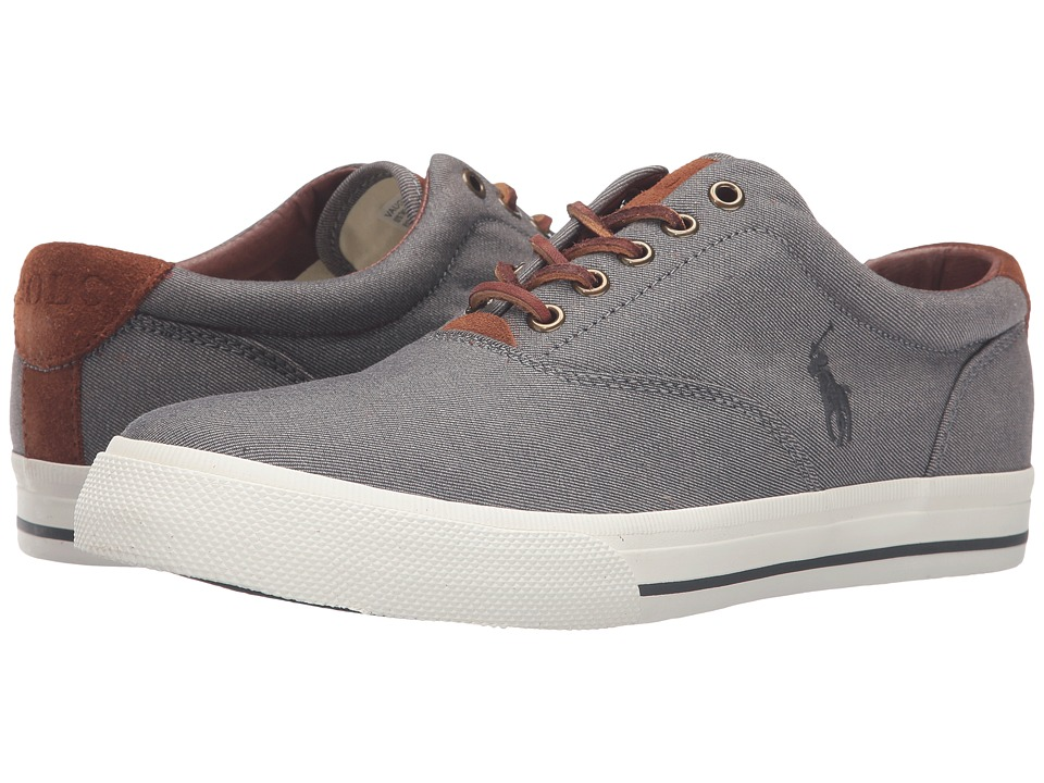 Polo Ralph Lauren - Vaughn (Grey Two-Tone Twill) Men's Lace up casual Shoes