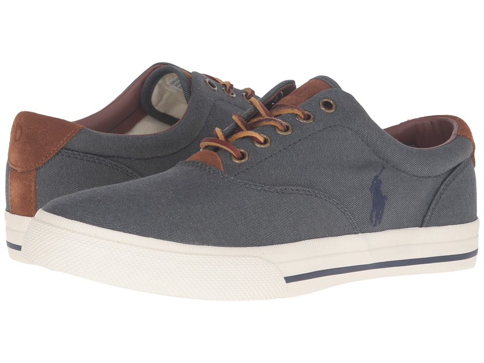 Polo Ralph Lauren - Vaughn (Denim Two-Tone Twill) Men's Lace up casual Shoes