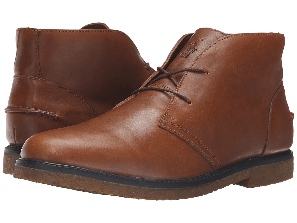 Polo Ralph Lauren - Marlow (Tan Oil Milled Leather) Men's Shoes