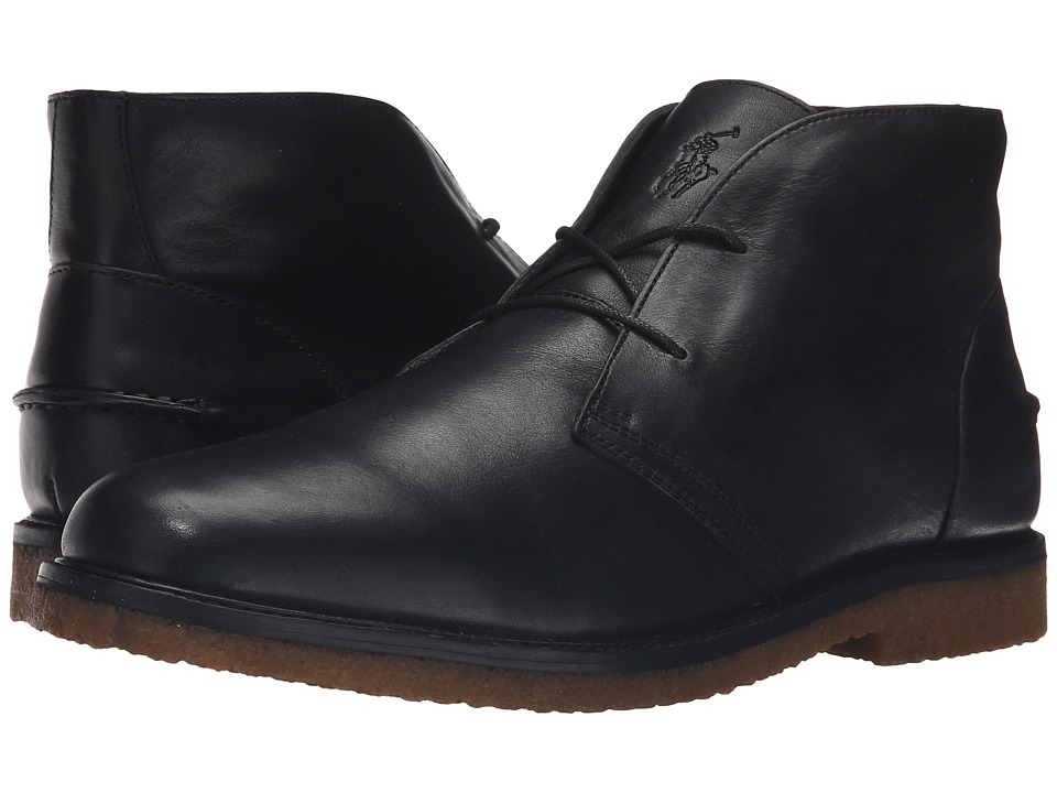 Polo Ralph Lauren - Marlow (Black Oil Milled Leather) Men's Shoes