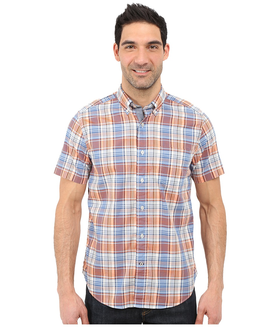 Nautica - Fireside Plaid Short Sleeve Shirt (Fireside) Men's Short Sleeve Button Up