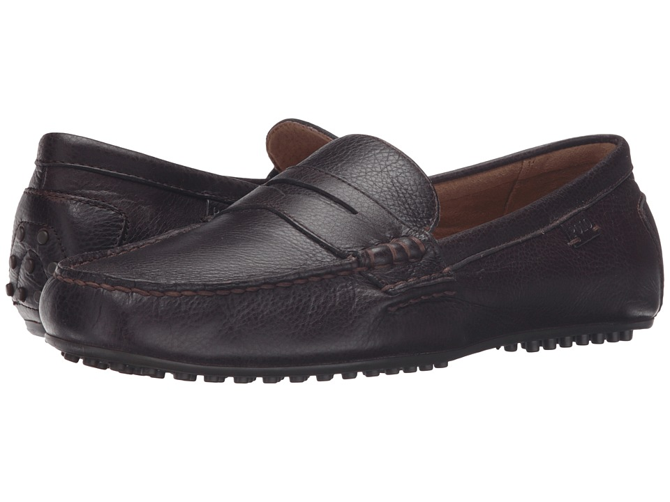 Polo Ralph Lauren - Wes (Oxblood Grained Pullup Vach) Men's Slip on Shoes