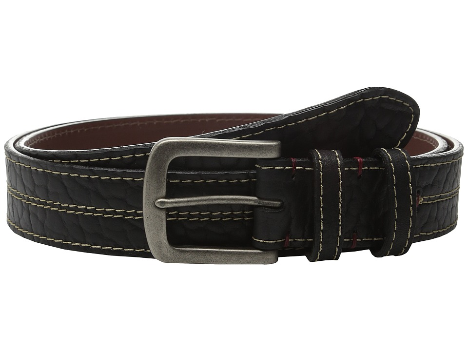 Torino Leather Co. - Oiled Shrunken American Bison (Black) Men's Belts