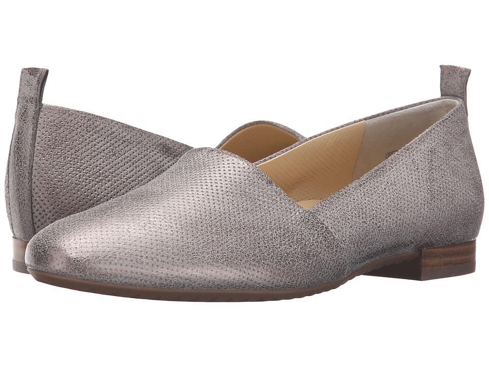 Paul Green - Anita Flat (Smoke Brush Metallic) Women's Flat Shoes