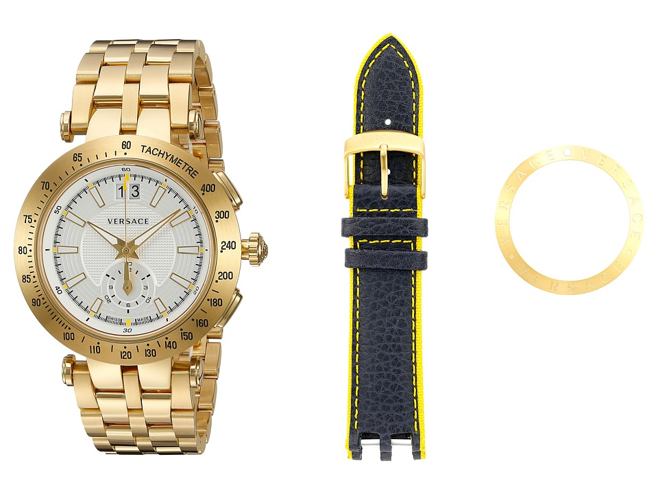 Versace - V-Race Sport VAH03 0016 (Blue/Yellow/Gold/White) Watches