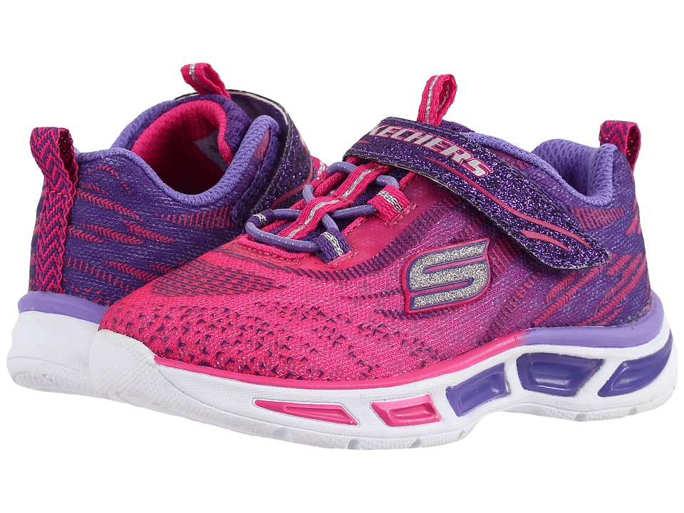 SKECHERS KIDS - Lite Beams 10667N Lights (Toddler) (Hot Pink/Purple) Girl's Shoes