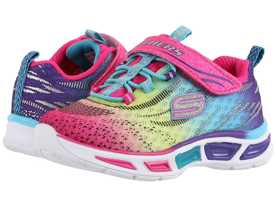 SKECHERS KIDS - Lite Beams 10667N Lights (Toddler) (Multi) Girl's Shoes