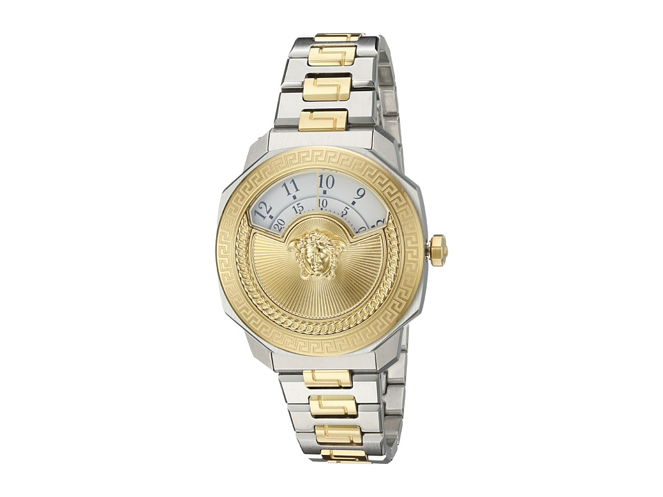 Versace - Dylos Medusa VQU04 0015 (Two-Tone Stainless Steel/Blue/Yellow/Gold) Watches