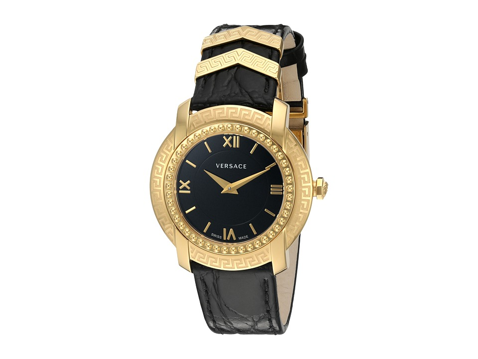 Versace - DV25 Round Lady VAM03 0016 (Blue/Yellow/Gold/Black) Watches
